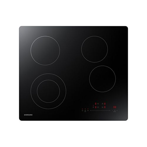 24-inch Built-In Radiant Electric Cooktop with 4-Elements in Black