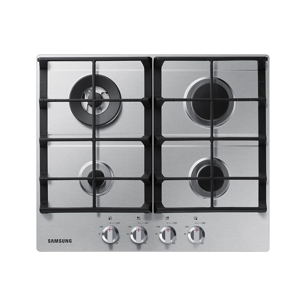 Samsung 24-inch Gas Cooktop with 4 Burners in Stainless Steel