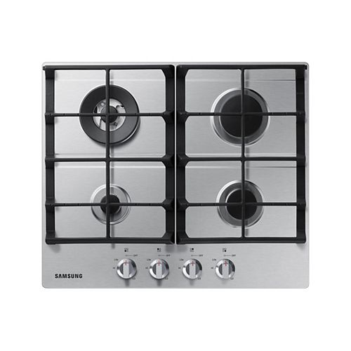 24-inch Gas Cooktop with 4 Burners in Stainless Steel