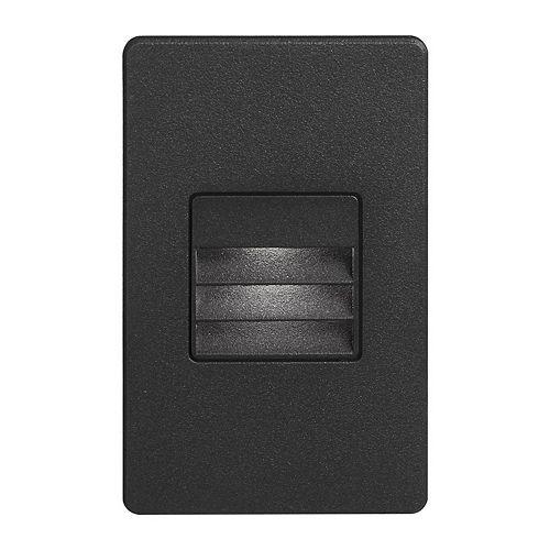 "Dainolite LED 3"" Indoor/Outdoor Black Step/Wall Light"
