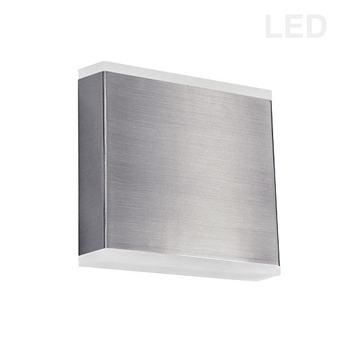 Dainolite 15W LED Wall Sconce, Satin Chrome with Frosted Acrylic Diffuser.