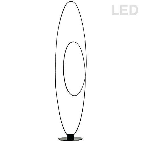 60W LED Floor Lamp, Matte Black.