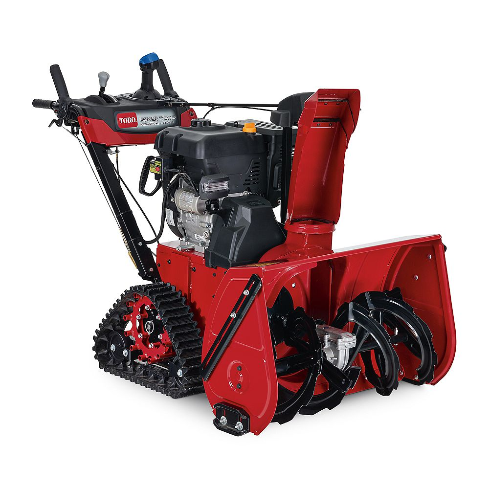 Toro Power TRX 32-inch Two-Stage Electric Start Gas Snow Blower with Steel Chute, Power Steering and Heated Grips