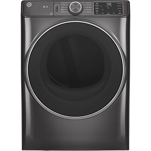 7.8 cu. ft. Capacity Front Load Gas Dryer with Built-In Wifi - Diamond Grey