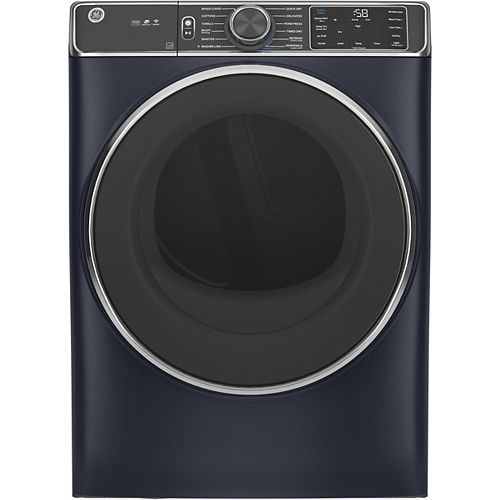 7.8 cu. ft. Capacity Front Load Electric Dryer with Steam and Sanitize Cycle - Sapphire Blue