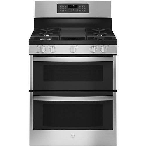 30-inch Free-Standing Gas Double Oven Convection Range - Stainless Steel