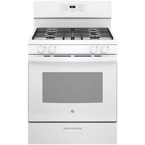 30-inch Free-Standing Gas Range with Broiler Drawer - White