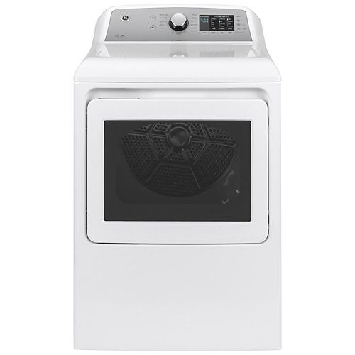7.4 Cu. Ft. Capacity Gas Dryer with Sanitize Cycle - White