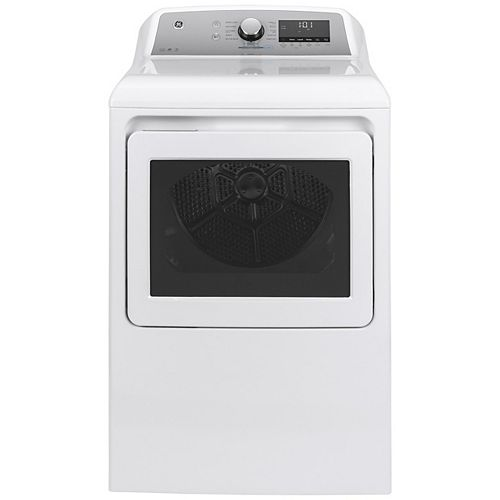 GE 7.4 Cu. Ft. Capacity Electric Dryer with Built-In Wifi - White