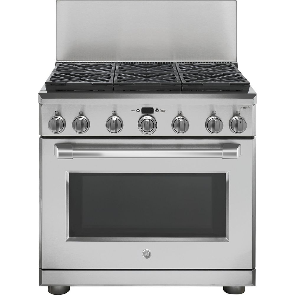 GE 36-inch Professional 12-inch Backsplash - Stainless Steel
