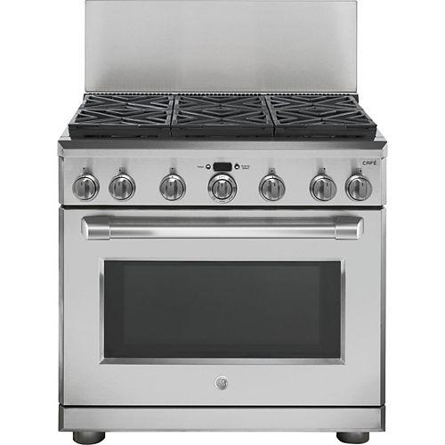 36-inch Professional 12-inch Backsplash - Stainless Steel