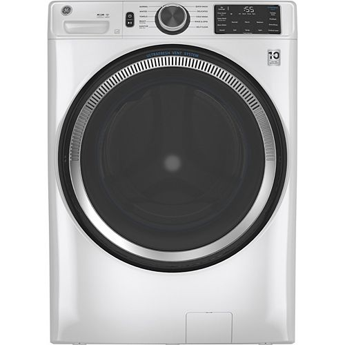 5.5 cu. ft. (IEC) Front Load Washer with OdourBlock UltraFresh Vent System with Sanitization & Built-In Wifi - White