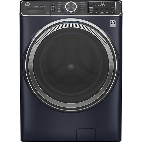 5.8 cu. ft. (IEC) Front Load Washer with OdourBlock UltraFresh Vent System with Sanitization &  Built-In Wifi - Sapphire Blue