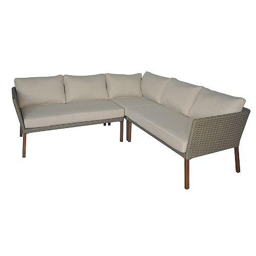Canapé modulaire à 3 sections Oakshire  Havane