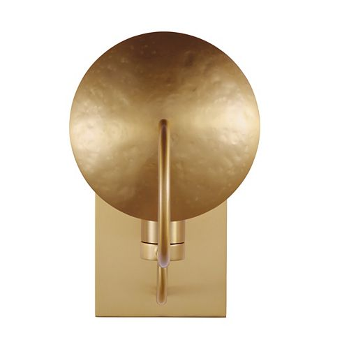 Whare 5 in. Burnished Brass Sconce