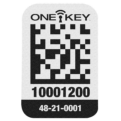 Small Plastic Surface ONE-KEY Asset ID Tags (200 Tags)