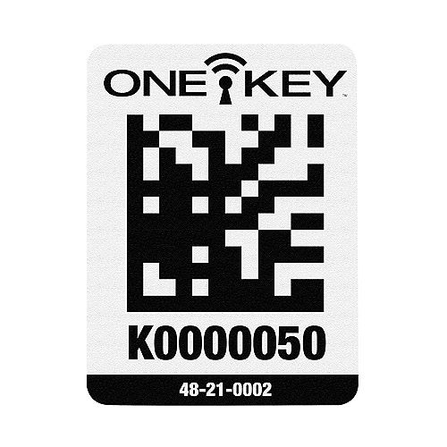 Large Plastic Surface ONE-KEY Asset ID Tags (100 Tags)