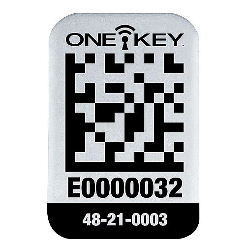 Small Metal Surface ONE-KEY Asset ID Tags (100 Tags)