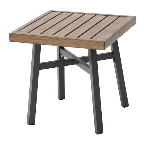 Farmhouse 18 inch Metal Outdoor Accent Table