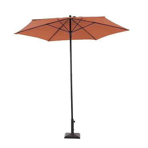 7.5 ft. Steel Market Patio Umbrella in Sienna