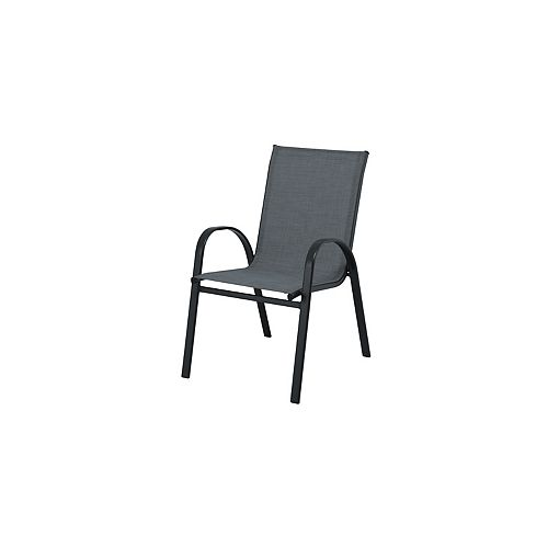 Mix & Match Graphite Sling Stacking Patio Dining Chair