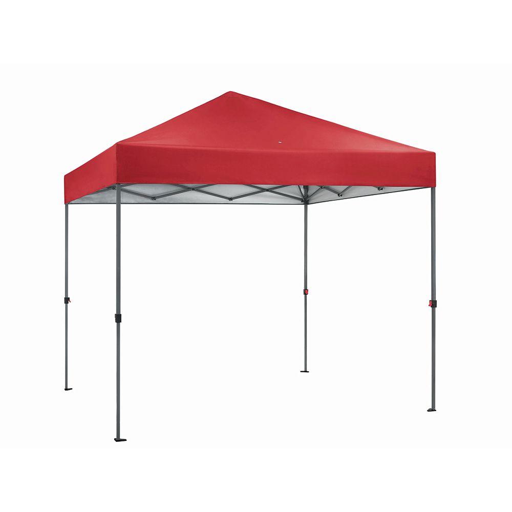 Everbilt 8 ft. x 8 ft. Pop-Up Straight Leg Canopy Red