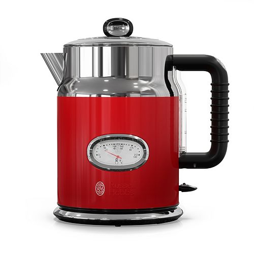 Russell Hobbs Retro Style 1.7L Electric Kettle, Red