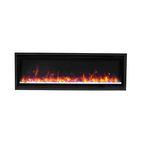72-inch Kennedy II Commercial Grade Recessed and Surface Mounted Electric Fireplace