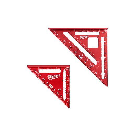 Ensemble de carrés à chevrons de 7 pouces et de carrés de garniture de 4-1/2 pouces