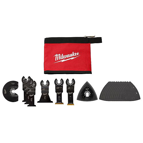 Oscillating Multi-Tool Blade Kit (20-Piece) with Tool Pouch