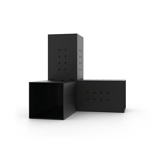 TRIO 3 Arm Pergola Corner Bracket for 6x6 Wood Posts 2 Pack