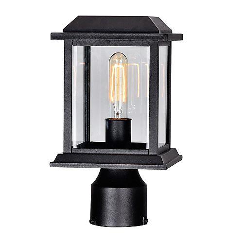 Blackbridge 1 Lumière extérieure Lanterne tête avec finition noire