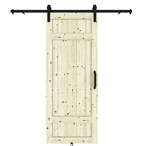 Kit Barrel Door includes Door 37x84, Barn rail and door handle