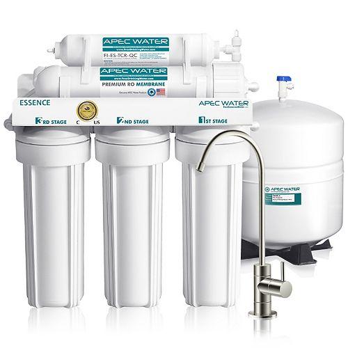 Système par osmose inverse sous évier Essence de qual. sup. à 5 phases