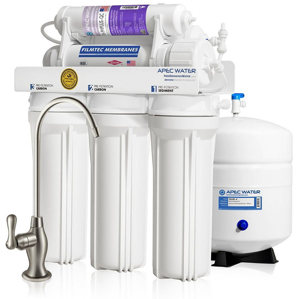APEC Water Systems Ultimate Premium Quality 90 GPD pH+ Alkaline Under-Sink Reverse Osmosis Drinking Water Filter System