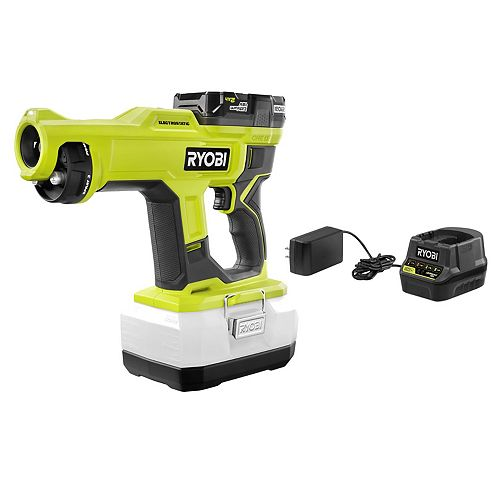 18V ONE+ Cordless Handheld Electrostatic Sprayer Kit with (1) 18V ONE+ 2.0 Ah Battery and Charger