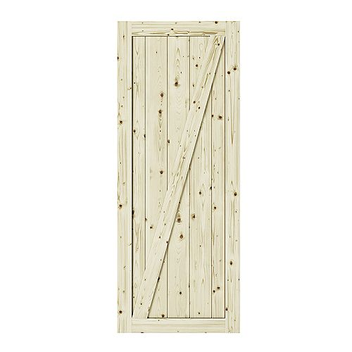 Kit Chalet Door includes Door 37x84, Barn rail and door handle