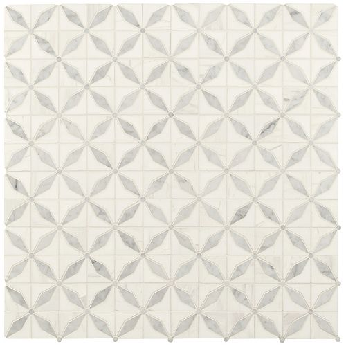 MSI Stone ULC Bianco Starlite 12 in. x 12 in. x 10mm Polished Marble Mesh-Mounted Mosaic Tile (10 sq. ft. / case)
