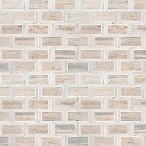 MSI Stone ULC Carr. de mosaïque de marbre poli Angora Framework, 12 po x 12 po x 10 mm, sur filet (10 pi2/bte)