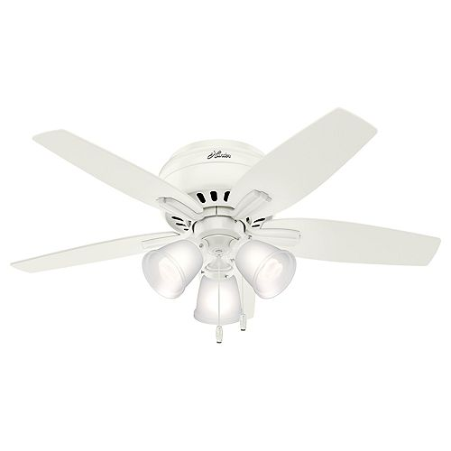 Newsome 42-Inch LED Indoor Fresh White Low Profile Ceiling Fan