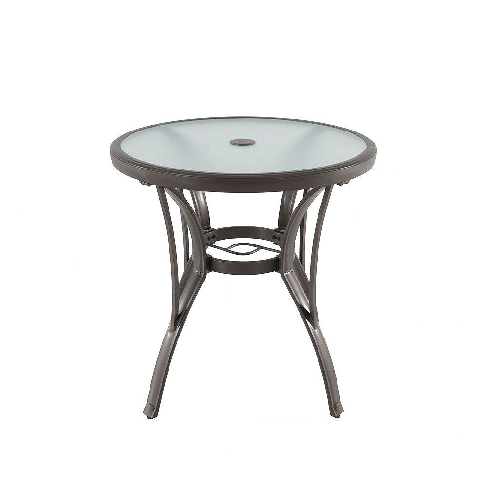 Home Decorators Collection Commercial Grade Brown Round Aluminum Patio Bistro Table