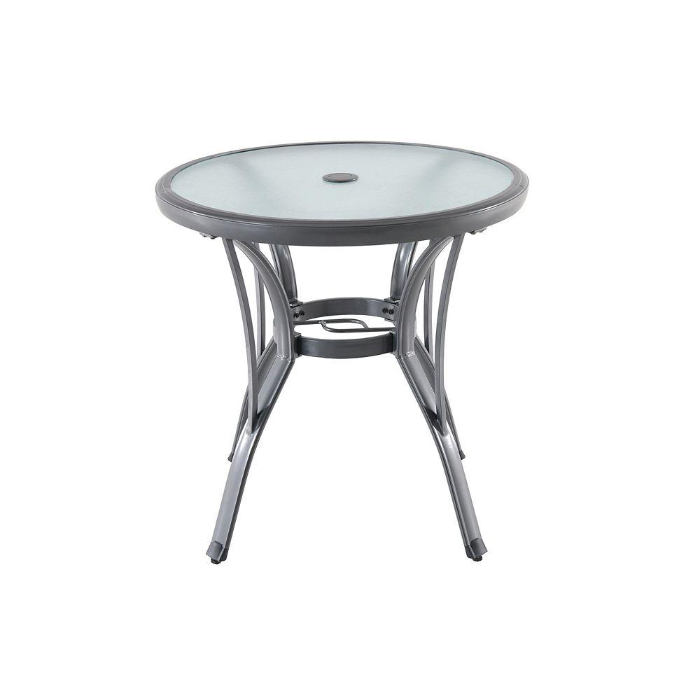 Home Decorators Collection Commercial Grade Grey Round Aluminum Patio Bistro Table