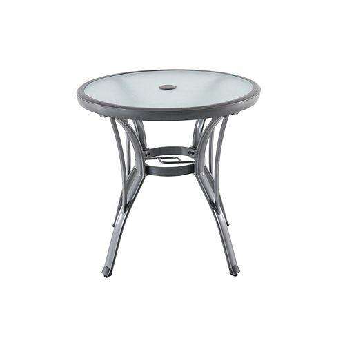 Commercial Grade Grey Round Aluminum Patio Bistro Table