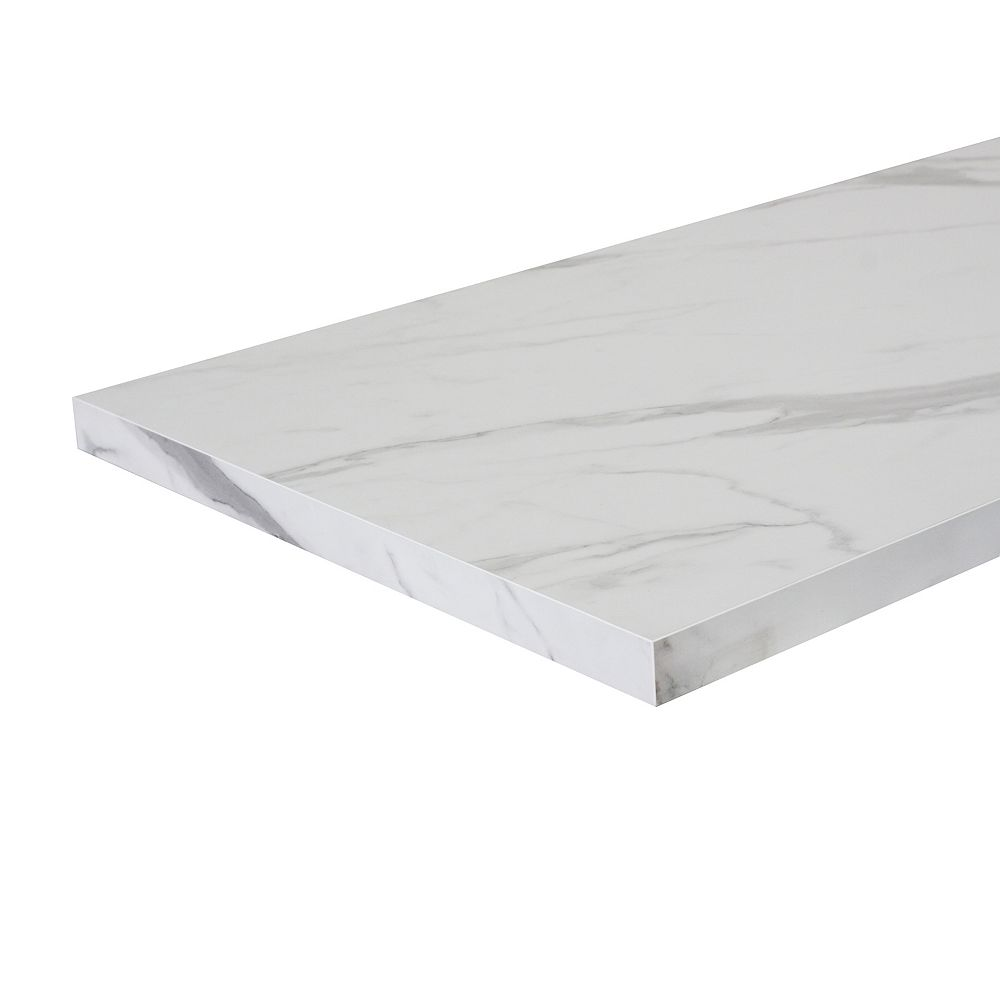HDG 6 ft. Laminate Countertop Carrara Marble with ABS Edge
