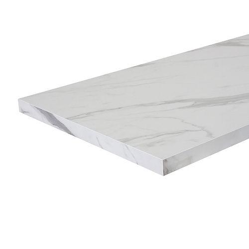 6 ft. Laminate Countertop Carrara Marble with ABS Edge