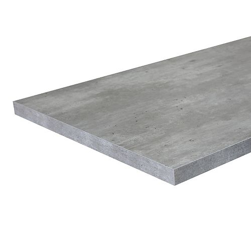 6 ft. Laminate Countertop Concrete with ABS Edge