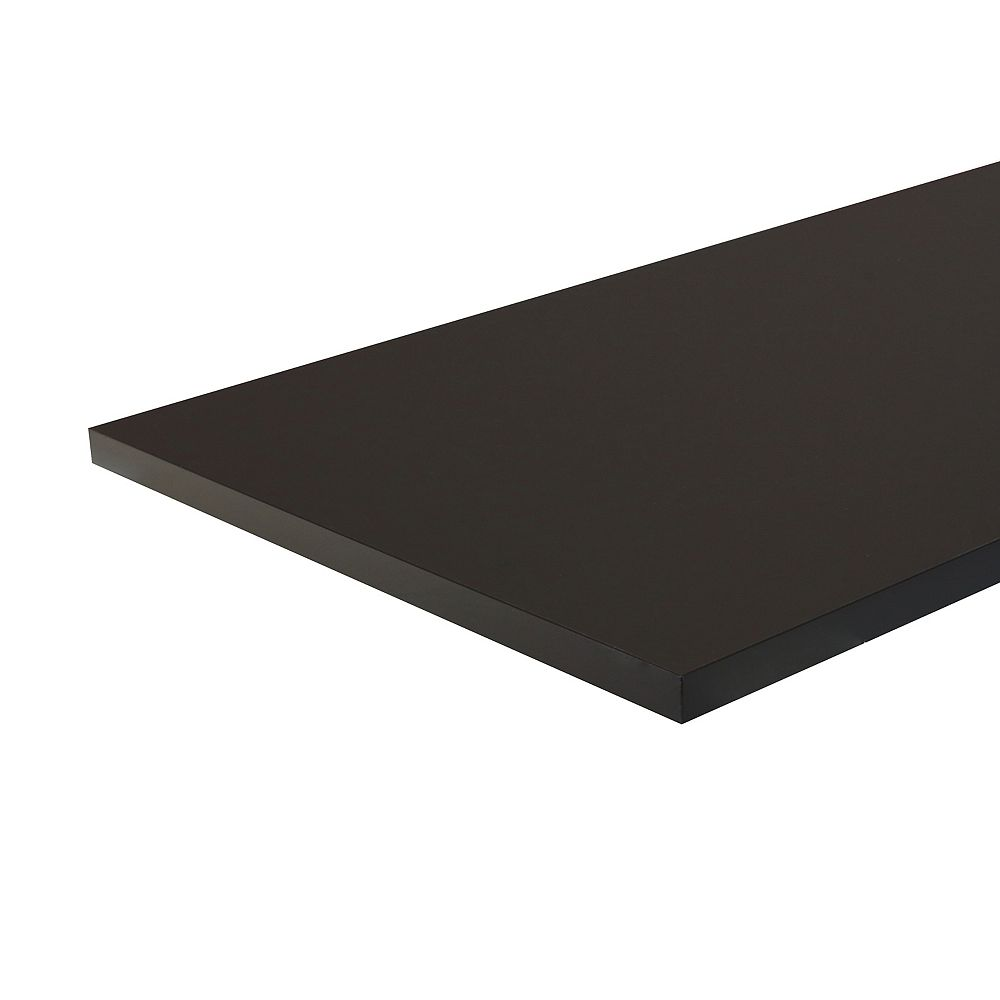HDG 6 ft. Laminate Countertop Matte Black with ABS Edge