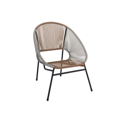 Mix & Match Grey/Wheat All-Weather Wicker Patio Egg Stacking Chair