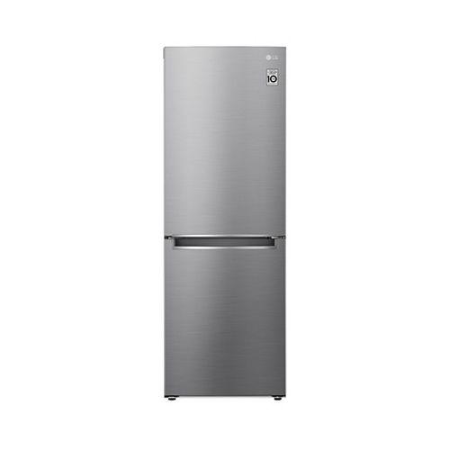 Réfrigérateur à congélateur inférieur de 24 pouces de largeur et de 11 pieds cubes en argent platine, de la taille d'un appartement et d'une profondeur de comptoir