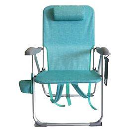 Chaise de plage pliante à 7 positions - sarcelle